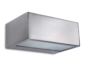 Leds C4 Nemesis R7s Outdoor Up & Down Wall Light, Stainless Steel AISI316 Finish - 05-9629-CA-B8