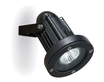 Leds C4 Helio Aluminium Adjustable Outdoor Wall Spotlight, Black Finish - 05-9640-05-37