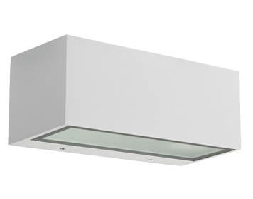 Leds C4 Nemesis Aluminium Outdoor Up & Down Outdoor Wall Light, White Finish - 05-9649-14-T2