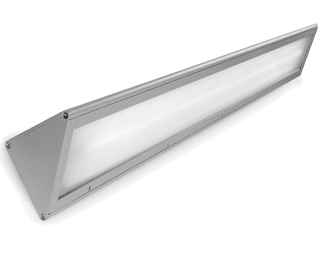 Leds C4 'Curie' IP65 T5 28/54w Fluorescent Outdoor Wall Light, Grey - 05-9662-34-CD