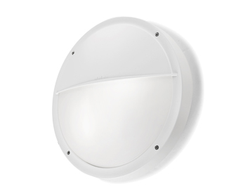 Leds C4 Opal Outdoor Wall Light, White Polycarbonate ABS Finish - 05-9677-14-M1