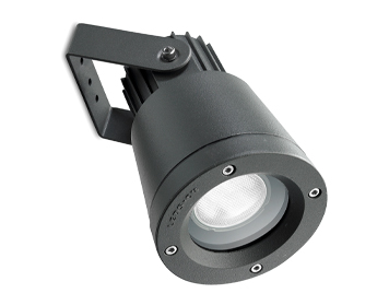 Leds C4 Hubble Technopolymer Adjustable Outdoor Spotlight, Black Finish - 05-9722-05-37