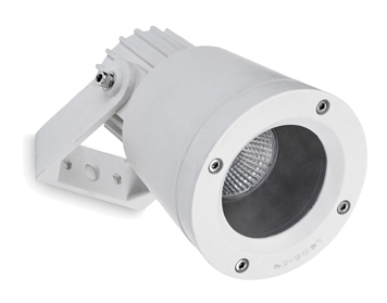 Leds C4 Hubble Technopolymer Adjustable Outdoor Spotlight, White Finish - 05-9722-14-37