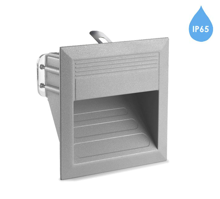Outdoor recessed wall lights from easy lighting leds c4 micenas ip65 2w led outdoor led recessed wall light grey workwithnaturefo