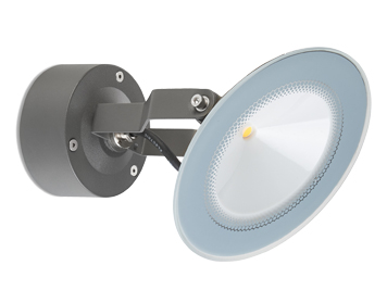 Leds C4 Skade LED Adjustable Outdoor Spotlight, Grey Finish - 05-9870-34-CL