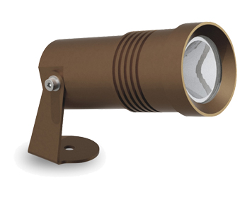 Leds C4 Micro LED Outdoor Spotlight, Brown Finish - 05-9881-J6-CM
