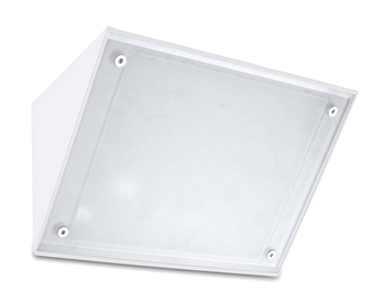 Leds C4 Curie Glass 260mm 4000K LED Outdoor Wall Light, White Finish - 05-9884-14-CM