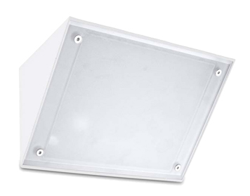 Leds C4 Curie Glass 260mm Outdoor Wall Light, White Finish - 05-9884-14-G5