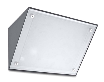 Leds C4 Curie Glass 260mm Outdoor Wall Light, Urban Grey Finish - 05-9884-Z5-G5