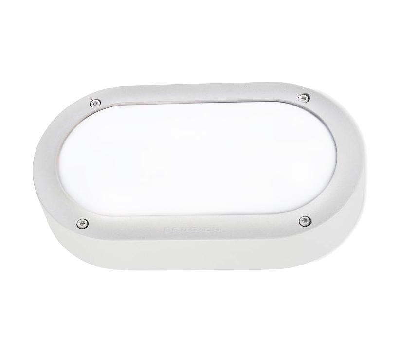 Leds C4 Basic Aluminium Outdoor Wall Light, White Finish