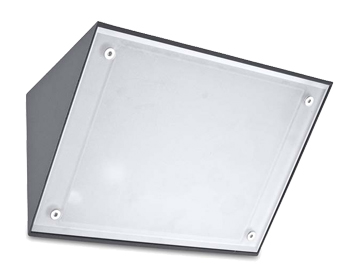 Leds C4 Curie Glass 350mm 4000K Outdoor Wall Light, Urban Grey Finish - 05-9993-Z5-G5