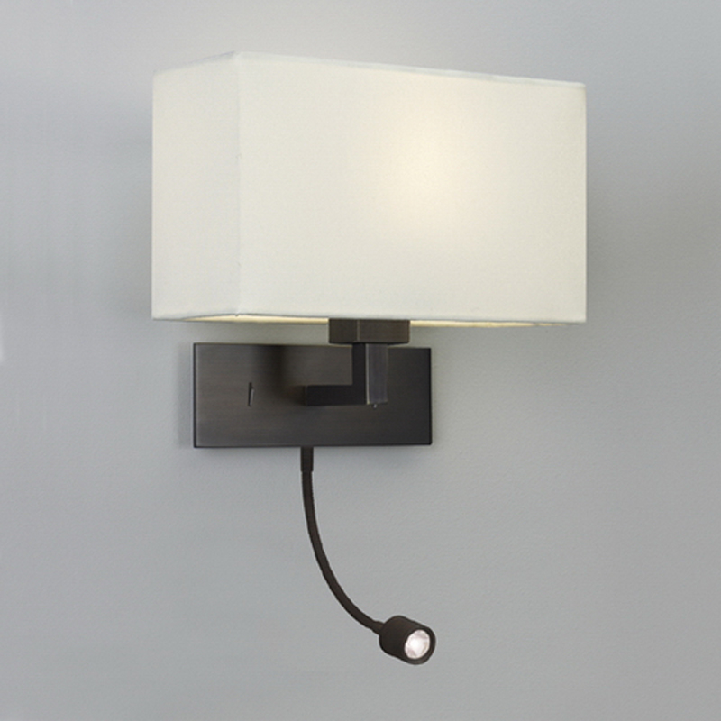 astro park lane grande led ip20 interior wall light bronze 0540 - Bedroom Wall Reading Lights