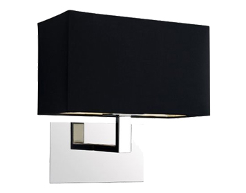 Astro Connaught Wall Light, Polished Chrome Finish With Black Shade - 0567