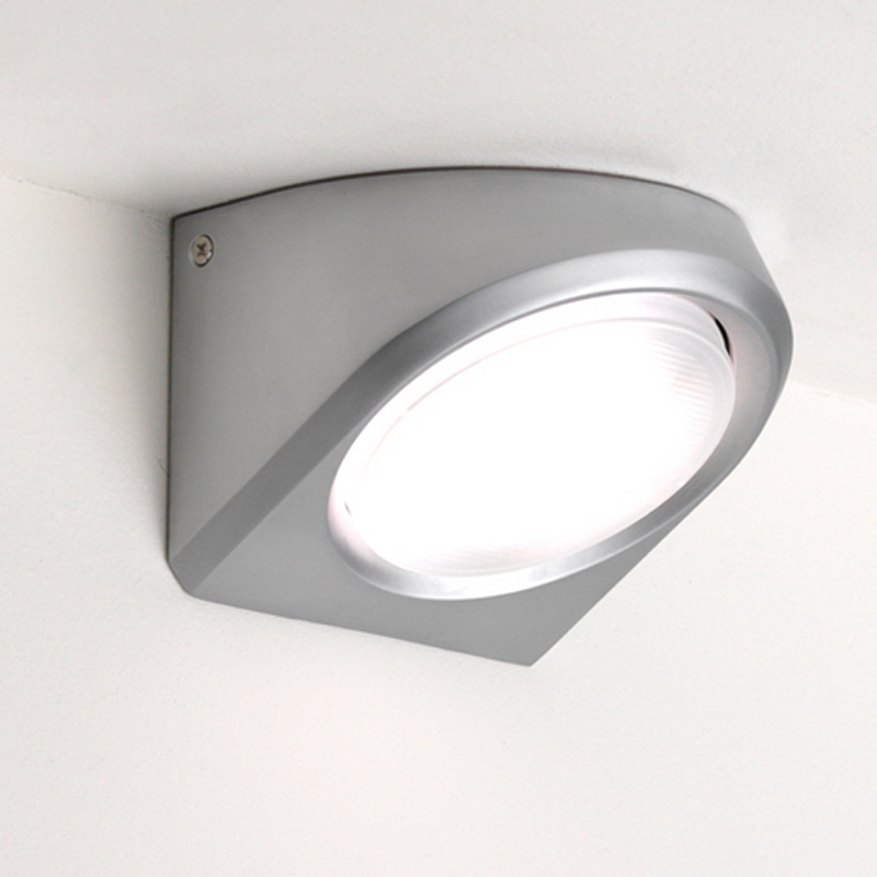 Astro Bressa Interior Wall Light, Satin Chrome Finish - 0582