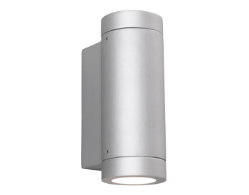 Astro Porto Plus Twin Outdoor Up & Down Wall Light, Matt Painted Silver Finish - 0625
