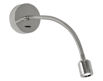 Astro Fosso Switched LED Wall Light, Polished Chrome Finish - 0659