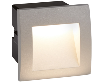 Searchlight Ankle Recessed LED Wall/Ceiling Light, Grey Finish - 0661GY