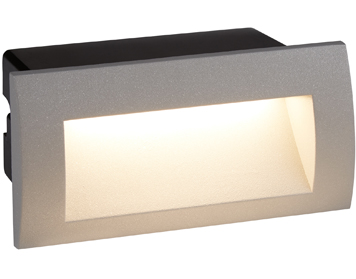 Searchlight Ankle Recessed LED Wall/Ceiling Light, Grey Finish - 0662GY