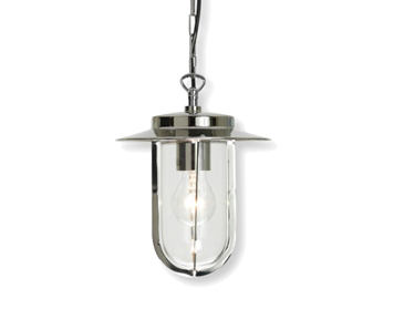 Astro Montparnasse Pendant Exterior Ceiling Pendant Light, Polished Nickel Finish With Clear Glass - 0671