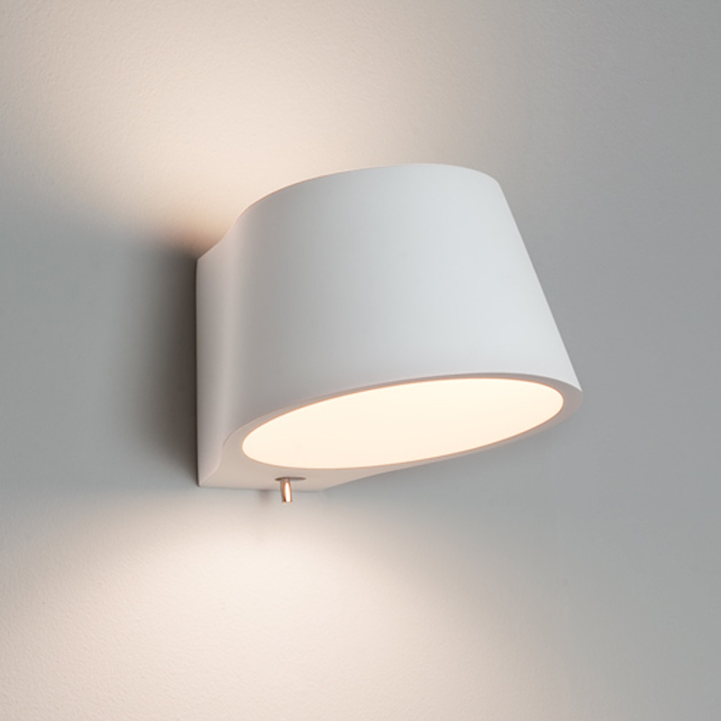 Switched Wall Light White : Astro Pero IP20 Wall Light, White Finish - 0812 from Easy Lighting