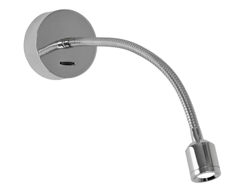 Astro Fosso Switched LED Wall Light, Matt Nickel Finish - 0756
