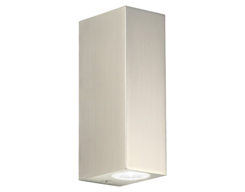 Astro Bloc LED Bathroom Up & Down Wall Light, Matt Nickel Finish - SALE-0824