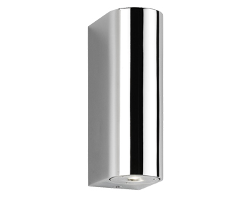 Astro Alba Bathroom Up & Down Wall Light, Polished Chrome Finish - 0828
