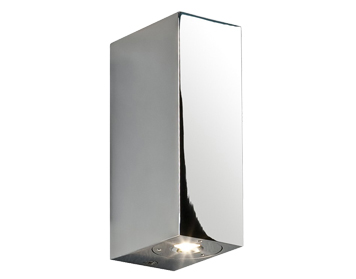Astro Bloc Bathroom Up & Down Wall Light, Polished Chrome Finish - 0829