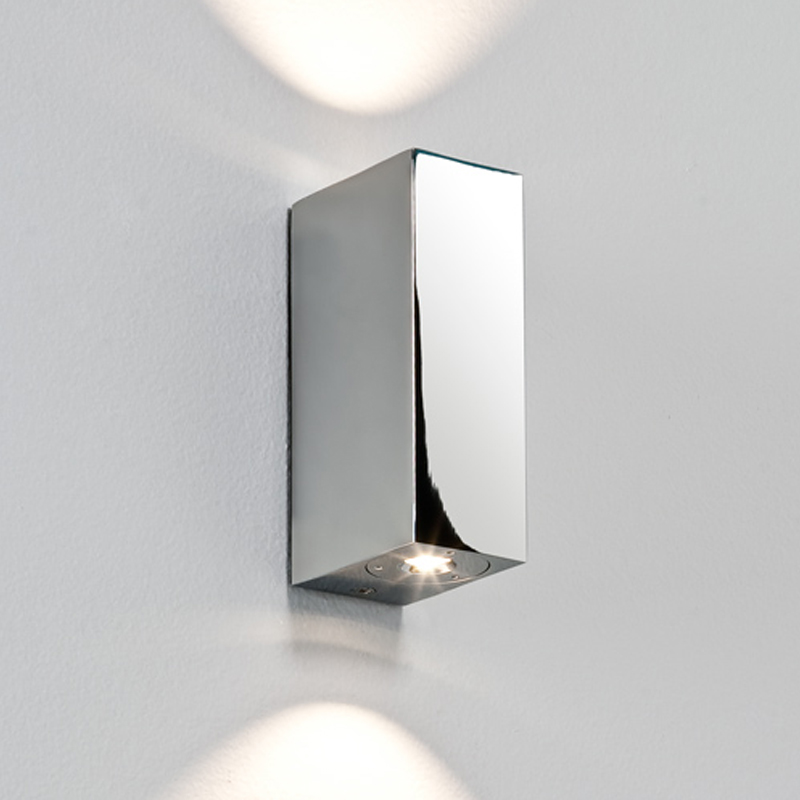 Up and down wall lights from easy lighting astro bloc ip44 led bathroom up down wall light polished chrome aloadofball Image collections