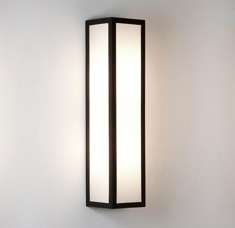Wall Light Glass Diffuser : Astro Salerno IP44 Outdoor Wall Light, Black Finish & Opal Glass Diffuser - 0848 from Easy ...