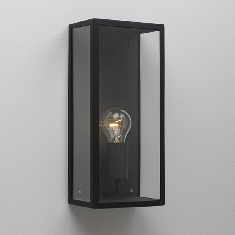 Astro messina sensor ip44 outdoor flush wall light with pir sensor astro messina ip44 outdoor flush wall light black finish clear glass mozeypictures Gallery