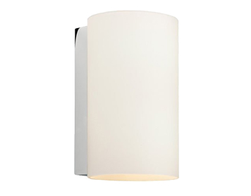 Astro Cyl 200 Wall Light, Polished Chrome Finish With White Glass - 0883