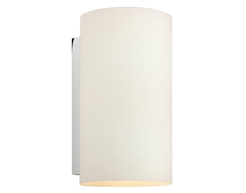 Astro Cyl 260 Wall Light, Polished Chrome Finish With White Glass - 0884