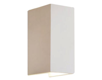 Astro Parma 160 LED 3000K Wall Light, White Plaster Finish - 0886