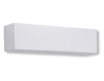 Astro Parma 250 LED 3000K Wall Light, White Plaster Finish - 0887