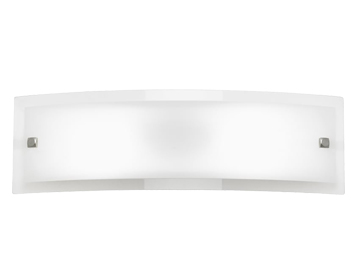 Endon Phelps 2 Light Switched Wall Bracket, Chrome Plate Finish With Clear & Frosted Glass - 095-40