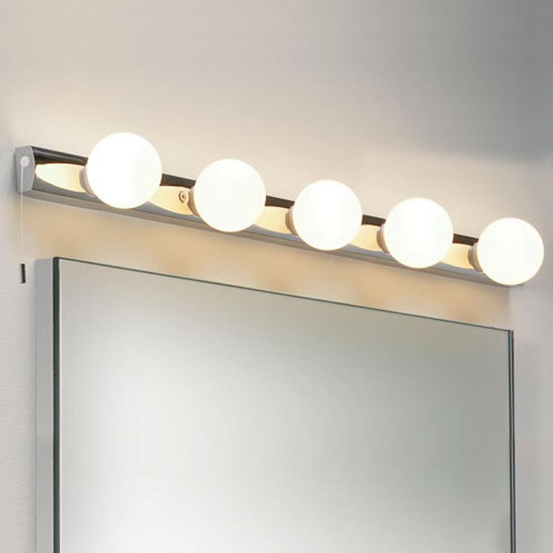 astro cabaret 5 ip44 5 light bathroom wall light polished chrome 0957 bathroom lighting over mirror