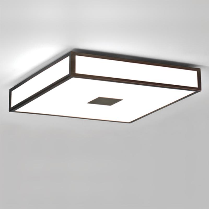 Bathroom Lights Black square flush bathroom ceiling lights from easy lighting