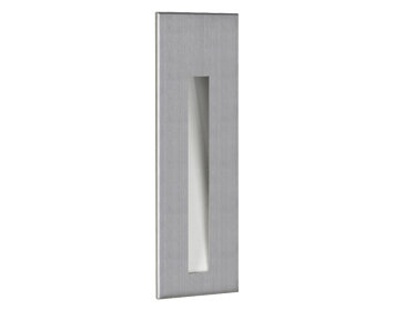 Astro Borgo 55 LED Recessed Wall Light, Brushed Stainless Steel Finish - 0972