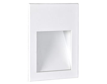 Astro Borgo 90 LED Recessed Wall Light, Matt White Finish - 0973