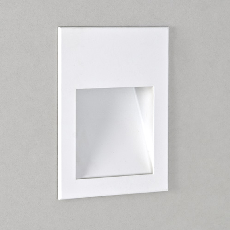 Astro Recessed Wall Lights : Astro Borgo 55 LED IP20 3000k Recessed Wall Light, Polished Chrome - 0971 from Easy Lighting
