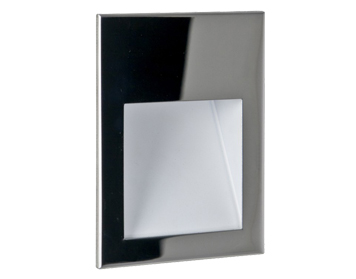 Astro Borgo 90 LED Recessed Wall Light, Polished Stainless Steel Finish - 0974