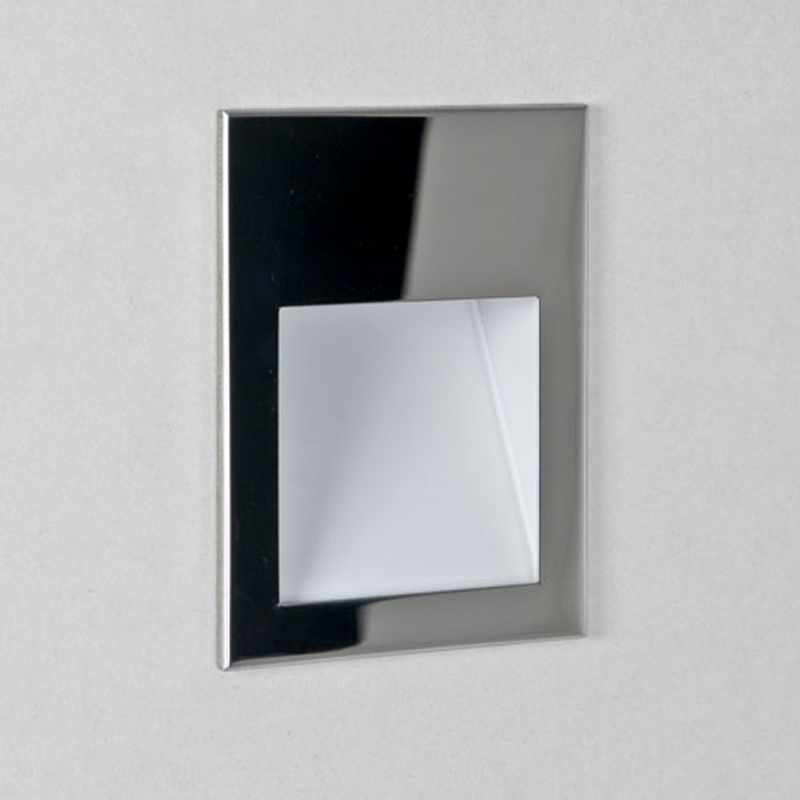 Astro Borgo 90 LED 2700K Recessed Wall Light, Polished Chrome Finish - 7531
