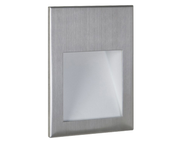 Astro Borgo 90 LED Recessed Wall Light, Brushed Stainless Steel Finish - 0975