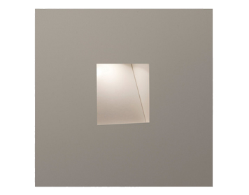 Astro Borgo Trimless 65 LED Recessed Wall Light, Matt White Finish - 0977