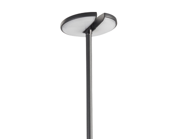 Leds C4 Invisible 1230mm LED Outdoor Floor Lamp, Black With Opal Polycarbonate Diffuser - 10-9733-05-CL