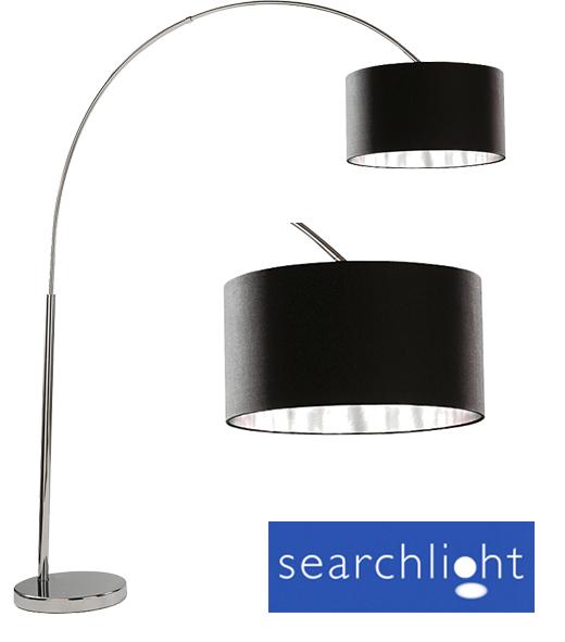 Searchlight 39 Arc 39 Floor Lamp Black Shade 1013CC From Easy Lighting