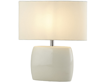 Contemporary table lamps from easy lighting searchlight bravo 1 light table lamp cream ceramic base with cream shade 1022cr mozeypictures Choice Image