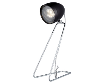 Searchlight Desk Partner LED Headlight Desk Lamp, Black Head - 1023BK