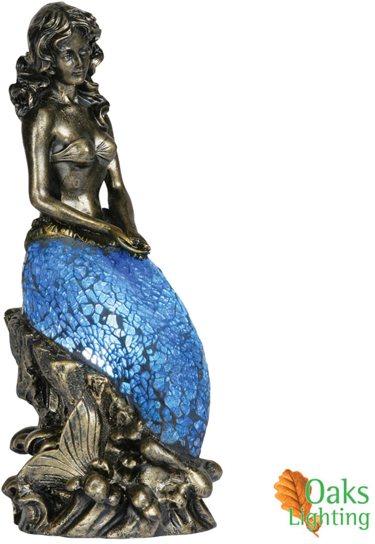 Mermaid floor lamp - Oaks Lighting Mermaid Tiffany Mosaic Table Lamp 1026 None